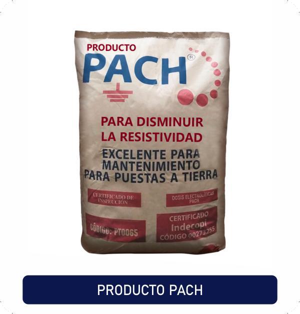 Disminuye la resistividad eléctrica del suelo Pach